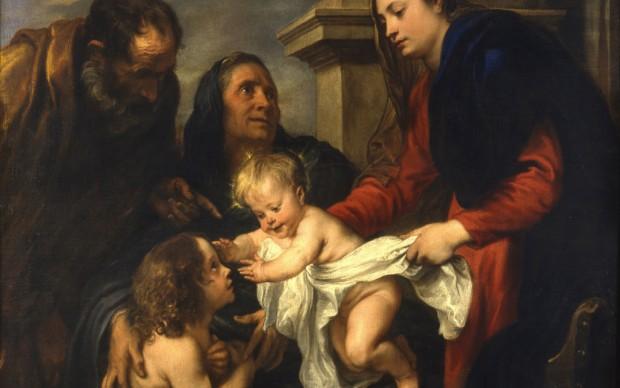 Van Dyck Sacra Famiglia