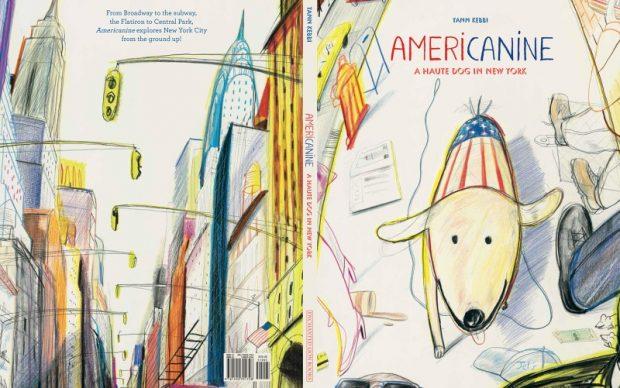 Yann Kebbi - Americanine A haute dog in New York libro illustrato