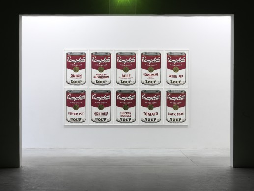 Andy Warhol, Campbell's Soups Can I. 1968. © 2017 Andy Warhol Foundation for the Visual Arts / VEGAP, Barcelona / TM Licensed by Campbell's Soup Co. All rights reserved