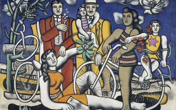 Fernand Léger, Les Loisirs-Hommage à Louis David , 1948 - 1949 Huile sur toile, 154 x 185 cm Centre Pompidou, Musée national d'art moderne - Centre de création industrielle © Centre Pompidou, MNAM-CCI/Jean-François Tomasian/Dist. RMN-GP © Adagp, Paris, 2016