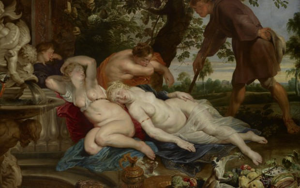 Peter Paul Rubens (1577-1640), Frans Snyders (still life with monkey), Jan Wildens (landscape) Cimon and Efiginia C. 1617 Oil on canvas 208 cm x 282 cm Gemäldegalerie, Kunsthistorisches Museum, Vienna © KHM-Museumsverband