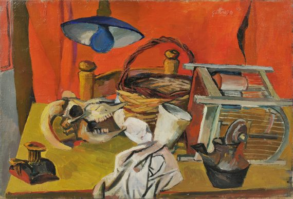 Renato Guttuso, Natura morta con lampada, 1940. Olio su tela, Collezione Giuseppe Merlini
