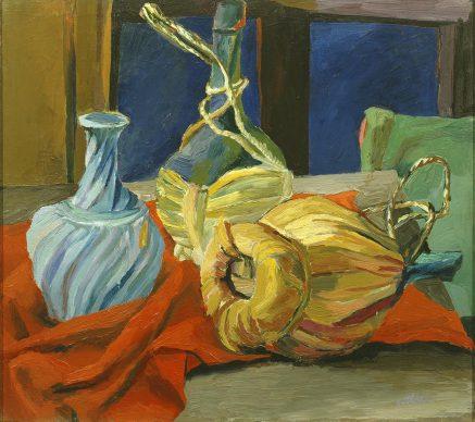 Renato Guttuso, La finestra blu, 1940-41. Olio su tela, Collezione Giuseppe Iannaccone, Milano