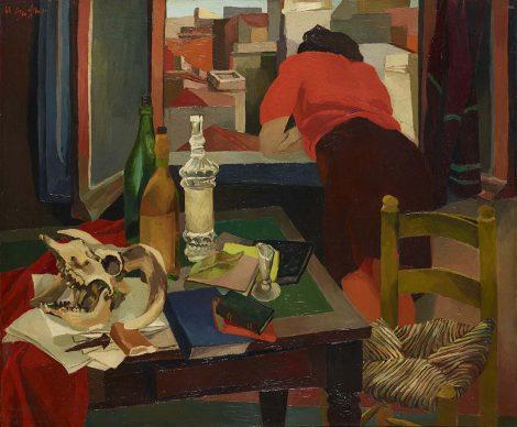 Renato Guttuso, Donna alla finestra, 1942. Olio su tela, Rovereto, Mart – Museo di arte moderna e contemporanea di Trento e Rovereto Collezione VAF - Stiftung