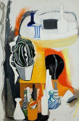 Renato Guttuso, Da Morandi, 1965. Olio su tela, Collezione Bocchi, Parma