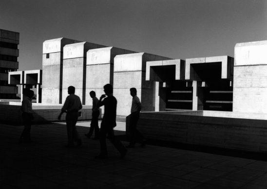 Sigrid Neubert, Universitätsbauverwaltung Regensburg: Zentrales Hörsaalgebäude, Regensburg, 1975 © Staatliche Museen zu Berlin, Kunstbibliothek / Sigrid Neubert