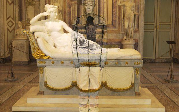 Liu Bolin, Paolina Borghese Bonaparte, Galleria Borghese, Roma
