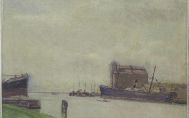 Rino Villa Canale della Giudecca, 1927 olio su compensato, cm. 44,5 x 55 Fondazione Musei Civici Venezia Ca' Pesaro – Galleria Internazionale d'Arte Moderna
