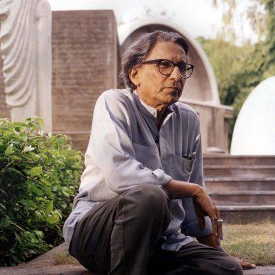 Un ritratto di Balkrishna Doshi - Photo courtesy of VSF - Courtesy of the Pritzker Architecture Prize