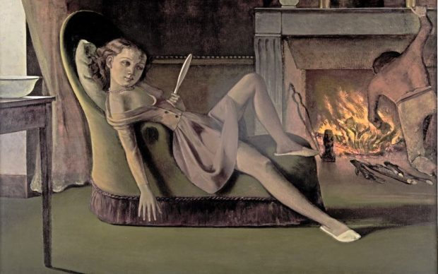 Balthus, Les Beaux Jours, 1944 © Balthus, Hirshhorn Museum and Sculpture Garden, Smithsonian Institution, Photography by Cathy Carver