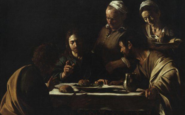Caravaggio, Cena in Emmaus, 1606, Pinacoteca di Brera, Milano