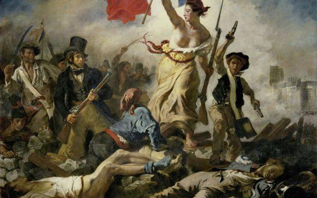 Eugène Delacroix, La Libertà che guida il popolo, 1830, Musée du Louvre, Parigi