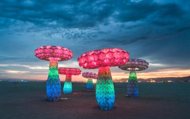 FoldHaus, Shrumen Lumen, Burning Man Festival, 2016. Photo by Rene Smith