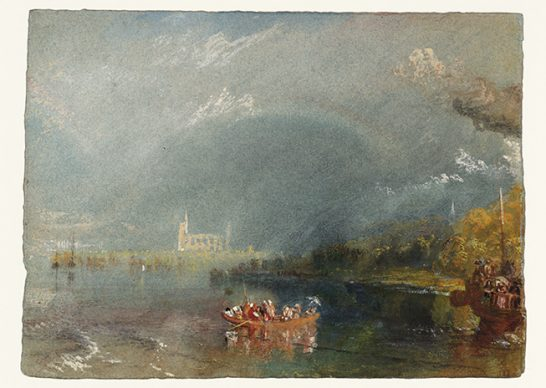 Joseph Mallord William Turner, Jumièges, c.1832. Credits Tate: Accepted by the nation as part of the Turner Bequest 1856