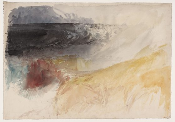 Joseph Mallord William Turner, Land's End, Cornwall, c.1834. Credits Tate: Accepted by the nation as part of the Turner Bequest 1856