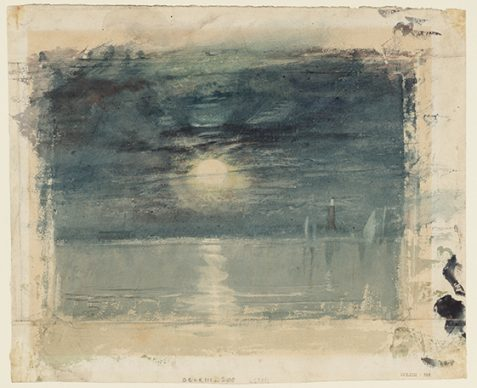 Joseph Mallord William Turner, Shields Lighthouse, c.1823-6. Credits Tate: Accepted by the nation as part of the Turner Bequest 1856