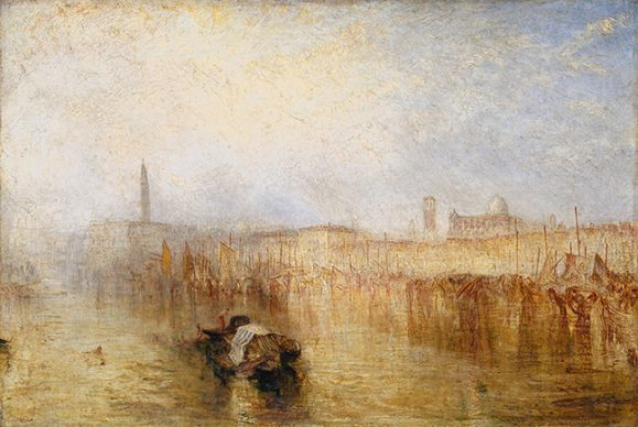 Joseph Mallord William Turner, Venice Quay, Ducal Palace, exhibited 1844. Credits Tate: Accepted by the nation as part of the Turner Bequest 1856