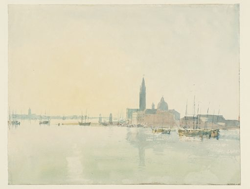 Joseph Mallord William Turner, Venice: San Giorgio Maggiore - Early Morning, 1819. Credits Tate: Accepted by the nation as part of the Turner Bequest 1856