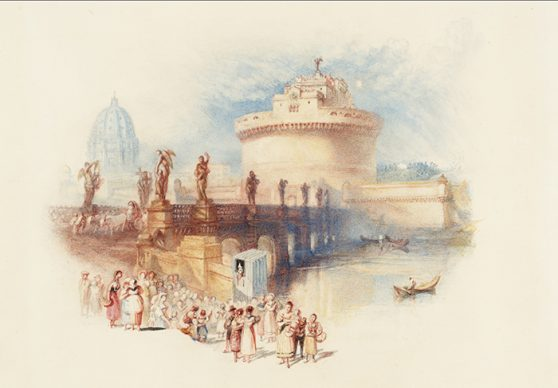 Joseph Mallord William Turner, The Castle of St Angelo, engraved, 1832. Credits Tate: Bequeathed by Beresford Rimington Heaton 1940