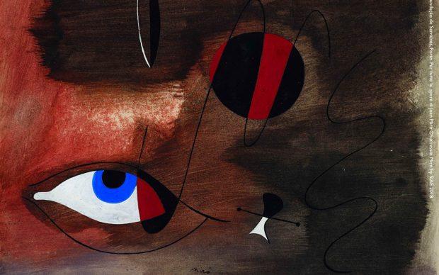 Joan Miró, Apparitions, 30 ago 1935. Gouache e inchiostro di china su carta, 30.5x37 cm. Filipe Braga, © Fundação de Serralves, Porto. Per tutte le opere di Joan Miró ©Successió Miró by SIAE 2018