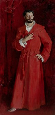 John Singer Sargent, Dr. Samuel-Jean Pozzi, 1881. The Armand Hammer Collection, Gift of the Armand Hammer Foundation. Hammer Museum, Los Angeles