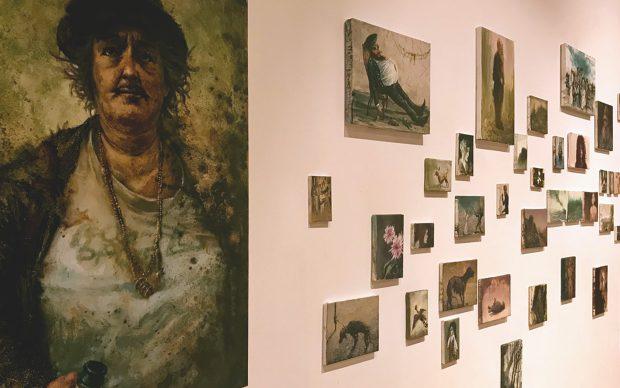 La Scuola di Palermo, installazione pittoria di De Grandi