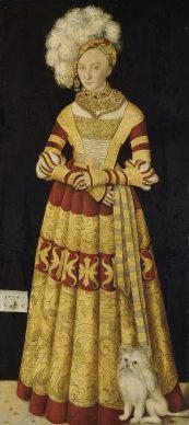 Lucas Cranach the Elder, Catherine of Mecklenburg, 1514. Gemäldegalerie Alte Meister, Staatliche Kunstsammlungen Dresden