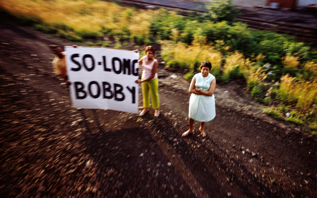 Paul Fusco, Untitled, from the series RFK Funeral Train, 1968, printed 2008; collection SFMOMA, purchase through a gift of Randi and Bob Fisher, Nion McEvoy, Kate and Wes Mitchell, The Black Dog Private Foundation, Candace and Vincent Gaudiani, Michele and Chris Meany, Jane and Larry Reed, and John A. MacMahon; © Magnum Photos, courtesy Danziger Gallery