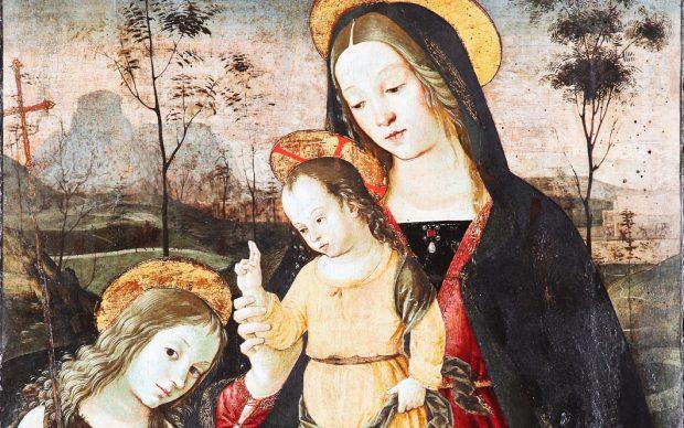 Pinturicchio, Madonna con Bambino e San Giovannino, Museo Diocesano di Città di Castello
