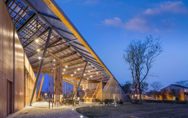 SYN Architects, New Pastoralism's Lecture Hall, Yangshan Town - Wuxi City, Cina