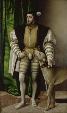 Jakob Seisenegger, The Emperor Charles V with his English Water Dog, 1532. Vienna, Kunsthistorisches Museum, Gemäldegalerie