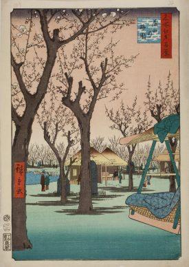 Utagawa Hiroshige II, Plum Garden at Kamata, 1857, Nationaal Museum voor Wereldculturen, Leiden
