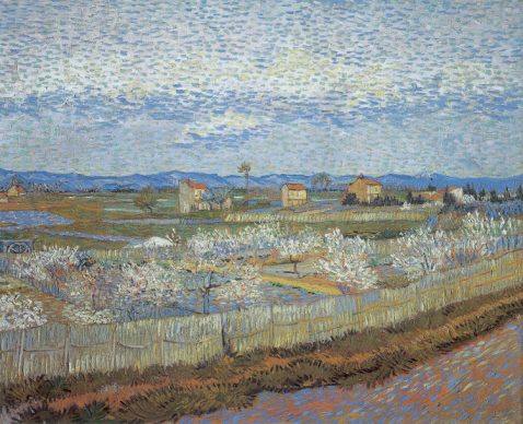 Vincent van Gogh, La Crau with Peach Trees in Blossom, 1889, The Samuel Courtauld Trust, The Courtauld Gallery, London
