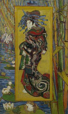 Vincent van Gogh, Courtesan (after Eisen), 1887. Van Gogh Museum, Amsterdam (Vincent van Gogh Foundation)