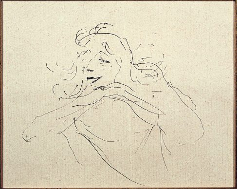 Henri de Toulouse-Lautrec, Study of Y. Guilbert (I), 1894 © Herakleidon Museum, Athens Greece
