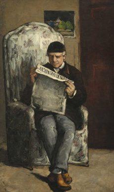 "Paul Cézanne, The Artist's Father, Reading ""L'Événement"", 1866, National Gallery of Art, Washington, Collection of Mr. and Mrs. Paul Mellon"