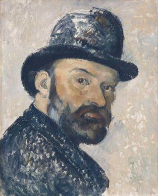 Paul Cézanne, Self-Portrait with Bowler Hat, 1885–1886, Ny Carlsberg Glyptotek, Copenhagen. Photograph: Ole Haupt