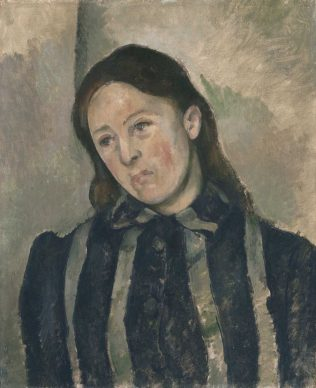 Paul Cézanne, Madame Cézanne in a Striped Dress, 1890–1892, Philadelphia Museum of Art: The Henry P. McIlhenny Collection in memory of Frances P. McIlhenny, 1986