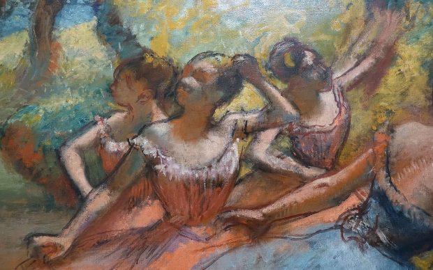 Edgar Degas, Four Ballett Dancers on Stage