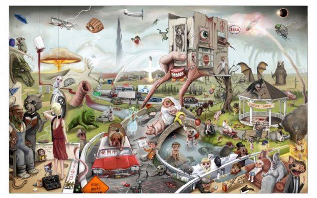 Jordan Monsell, King Country, illustrazione poster omaggio Stephen King