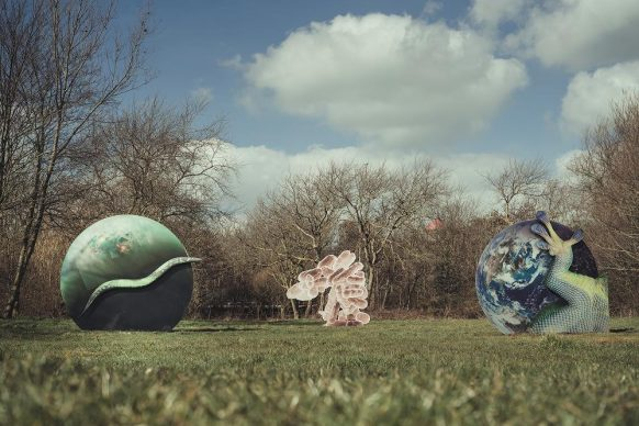 Katja Novitskova, Earth Potential (Bredene) © Westtoer, Jimmy Kets