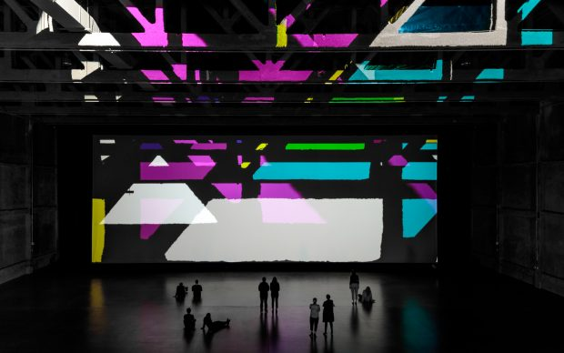 Olafur Eliasson, Reality projector, Marciano Art Foundation - Theater Gallery. Photo by Joshua White-JWPictures.com