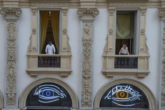 Patrick Tuttofuoco, Heterocromic, Carlo Cracco e Rosa Fanti, Galleria Carlo Cracco, Milano, photo Carmine Conte