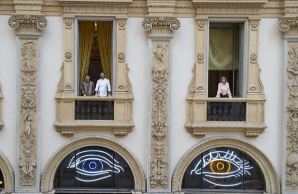 Patrick Tuttofuoco, Heterocromic, Carlo Cracco e Rosa Fanti, Galleria Cracco, Milano, photo Carmine Conte