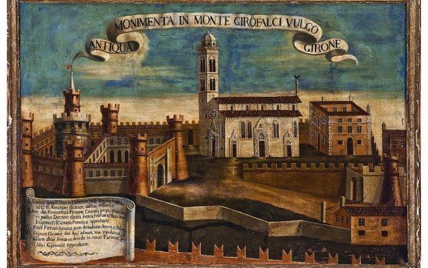 Veduta di fantasia dei monumenti sul Grifalco