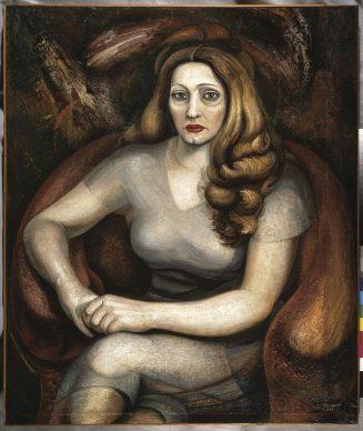 David Alfaro Siqueiros, Ritratto di Carmen De Carrillo Gil, 1946, piroxilina su legno compresso, Museo de Arte Carrillo Gil