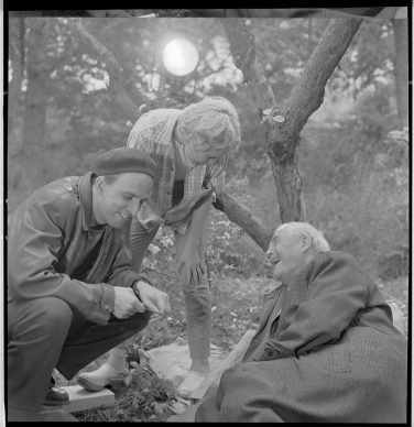 Ingmar Bergman sul set de Il posto delle fragole (1957) Filmografinr: 1957/30