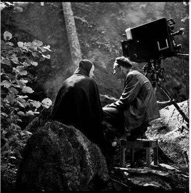 Ingmar Bergman sul set de Il settimo sigillo (1957) Filmografinr: 1957/03