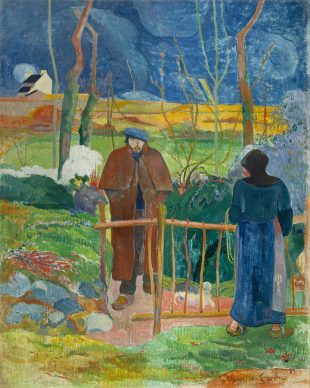 Paul Gauguin, Bonjour Monsieur Gauguin, 1889, National  Gallery in Prague ©  National Gallery in  Prague