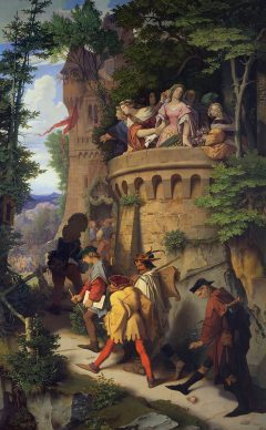 Moritz von  Schwind, The Roseor The Artist's  Journey, 1846/47, Staatliche Museen  zu Berlin,  Nationalgalerie ©  Staatliche Museen zu  Berlin, Nationalgalerie  / Andres  Kilger
